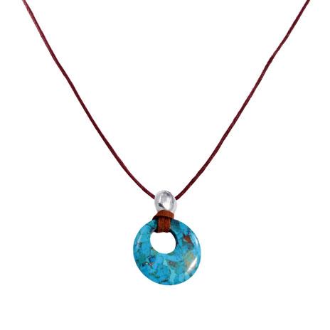 Turquoise Circle necklace (large)