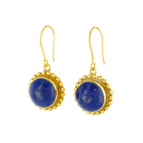 Afghanistan lapis drop earrings