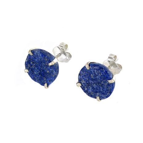 Afghanistan lapis stud earrings