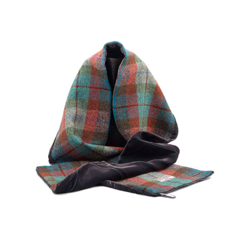 Harris Tweed & Velvet scarf