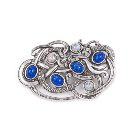 Viking opal & blue brooch