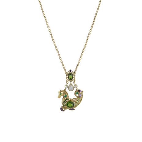 Waddesdon hippocamp necklace