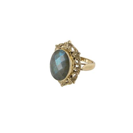 Waddesdon labradorite ring - 8/P