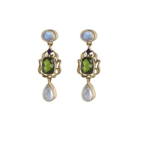 Waddesdon olivine drop earrings