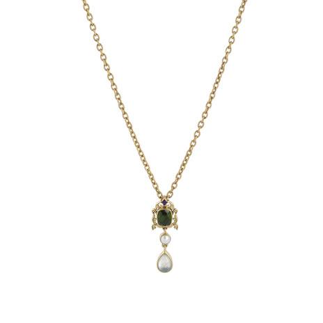 Waddesdon olivine necklace