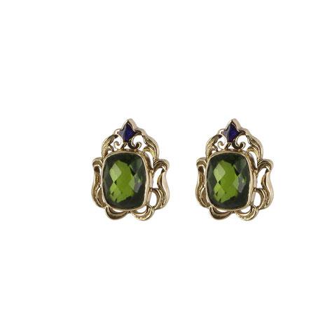 Waddesdon olivine stud earrings