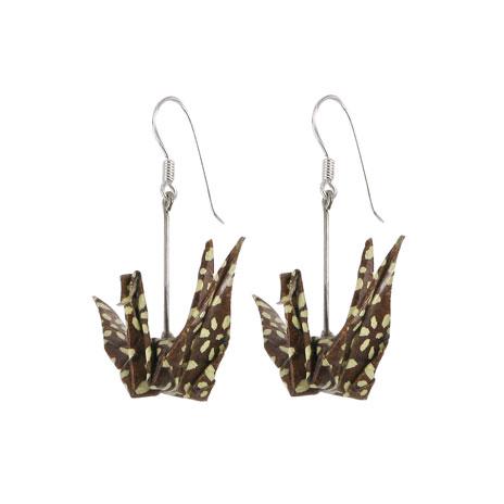 Japanese Paper earrings (crane)