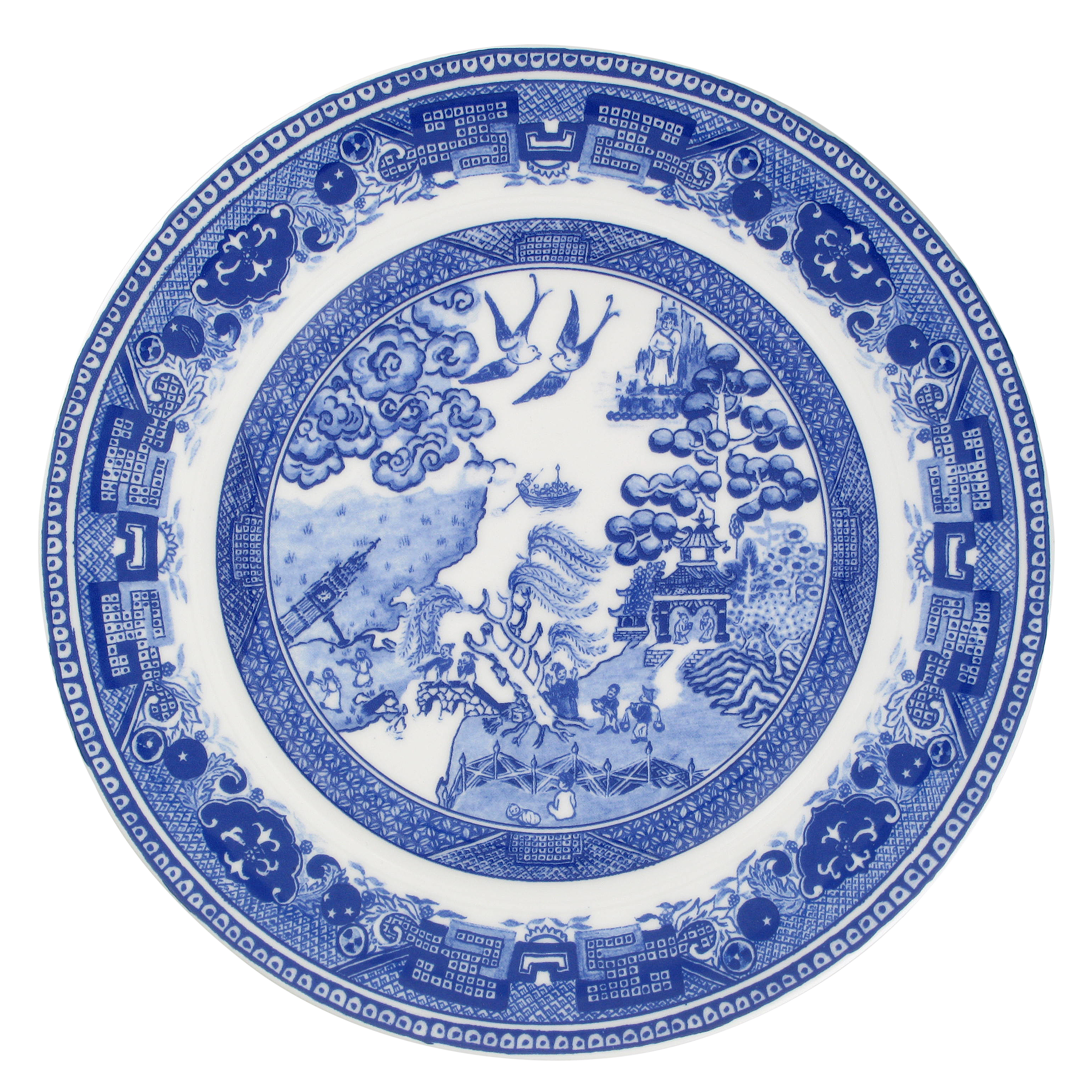 Brexit Willow Pattern plate