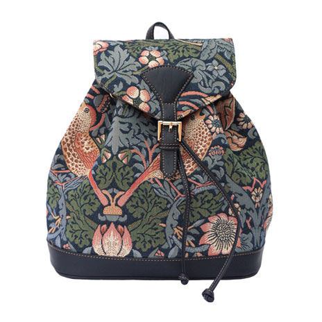 William Morris rucksack (blue)