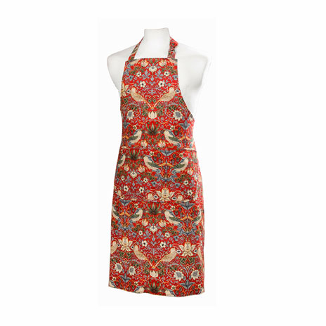 William Morris apron (red)