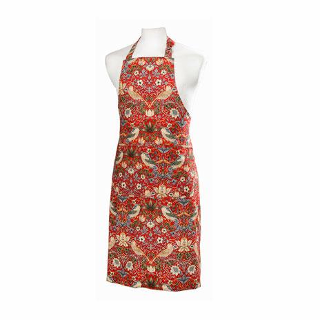 William Morris apron (red)