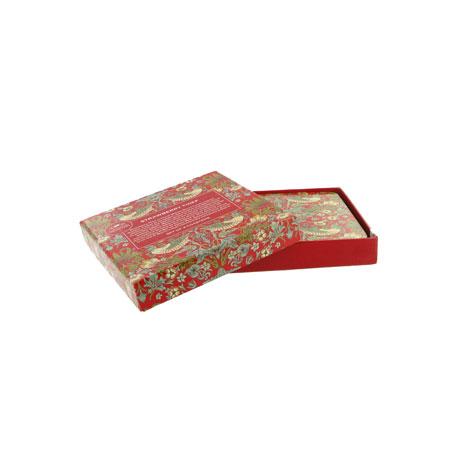 William Morris coasters, set of 4 (red)