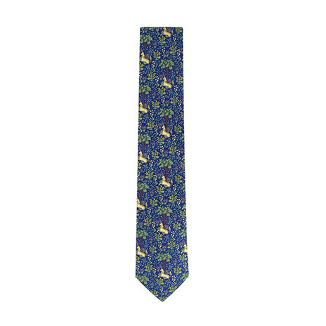 Unicorn tapestry tie (navy)