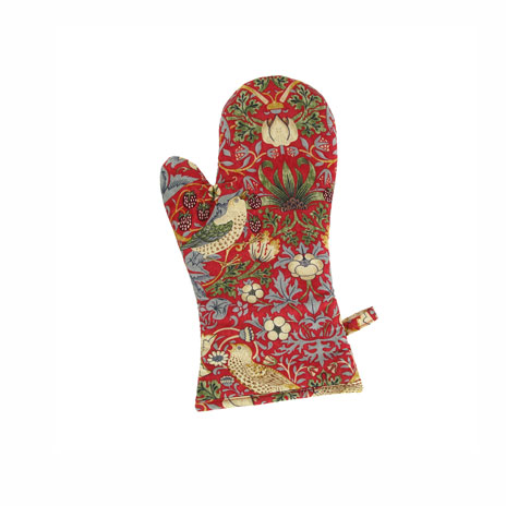 William Morris oven glove (red)