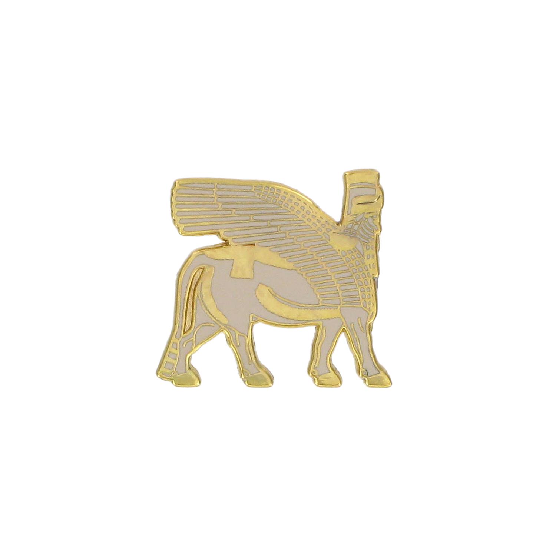 Winged Bull pin badge