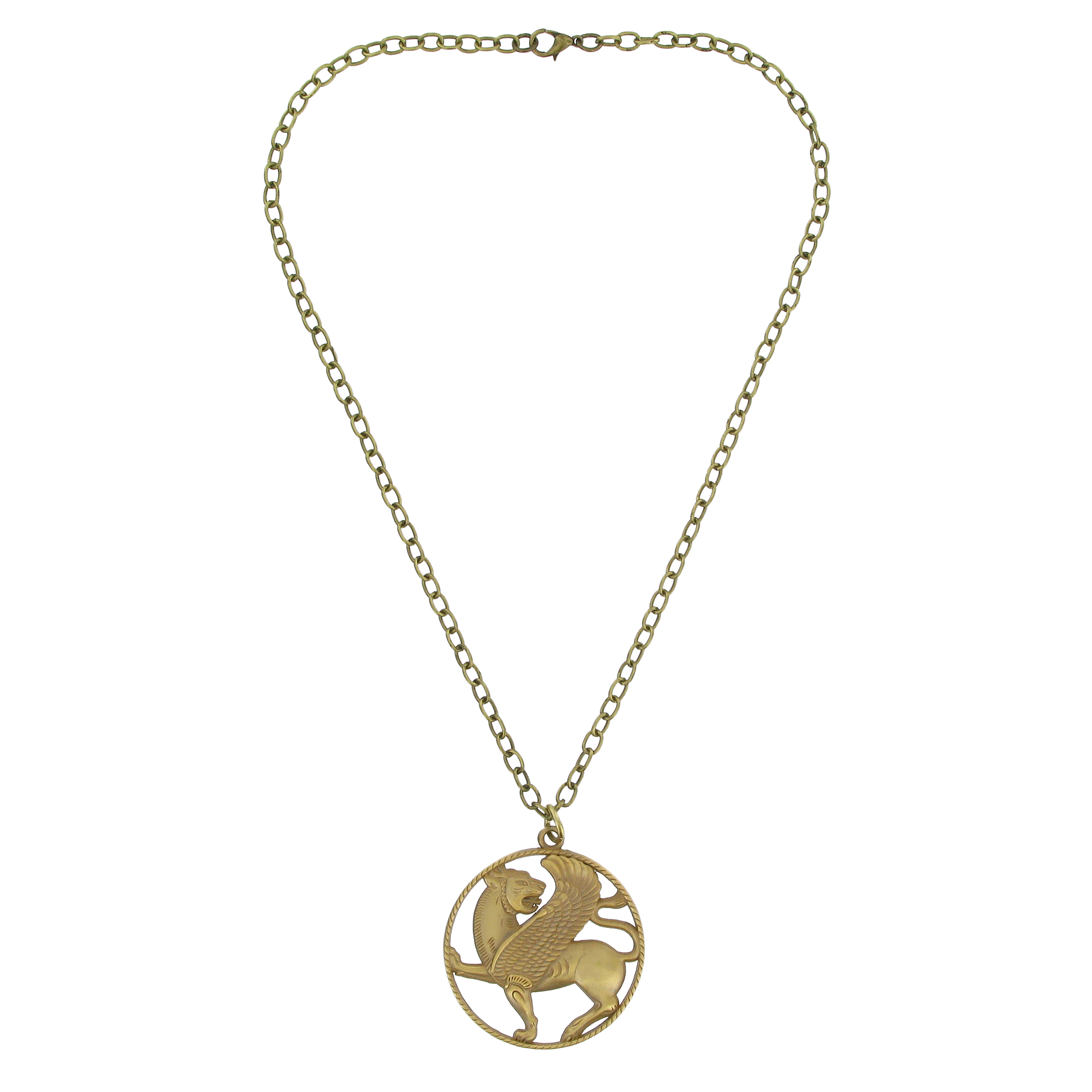Winged Lioness necklace