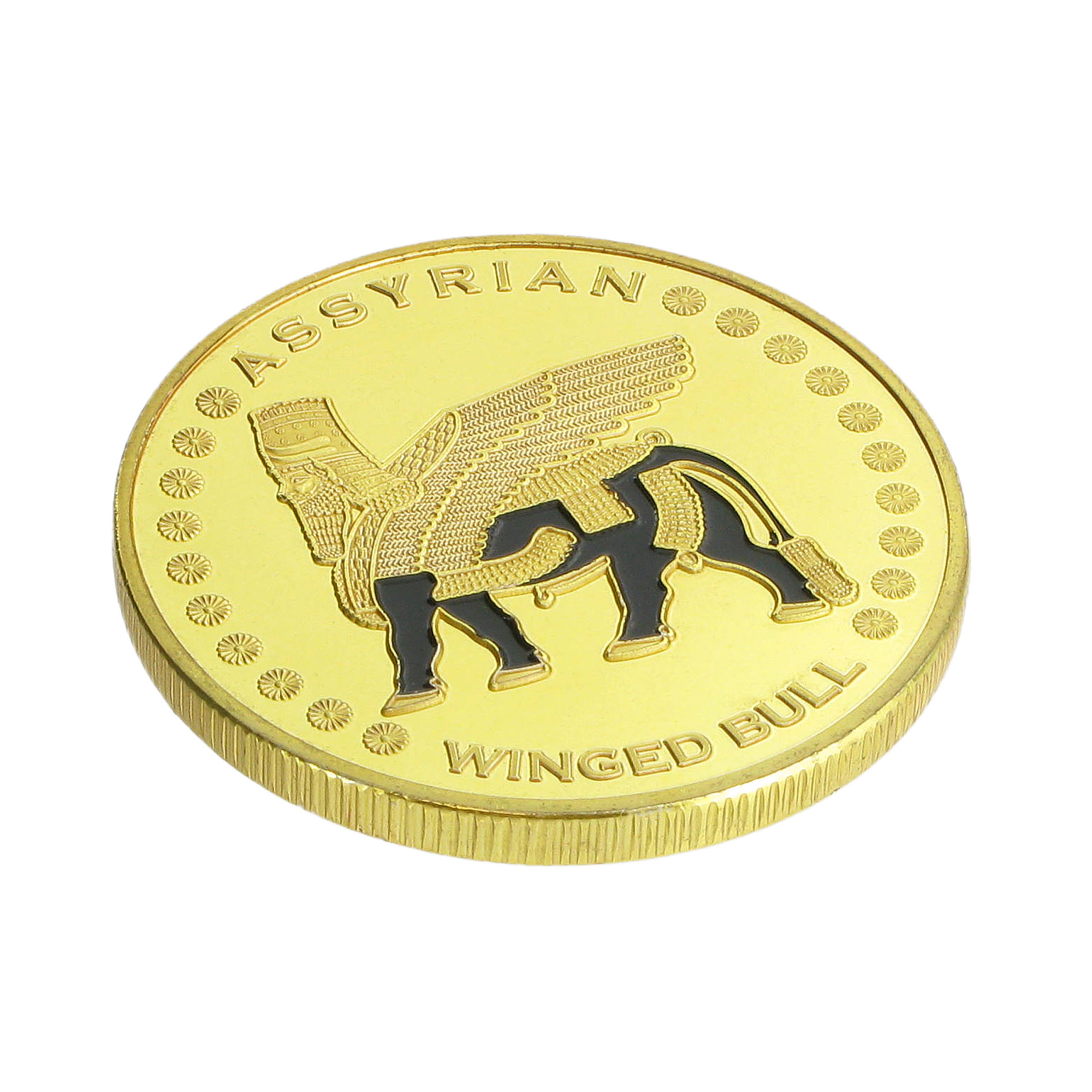 Winged bull souvenir coin