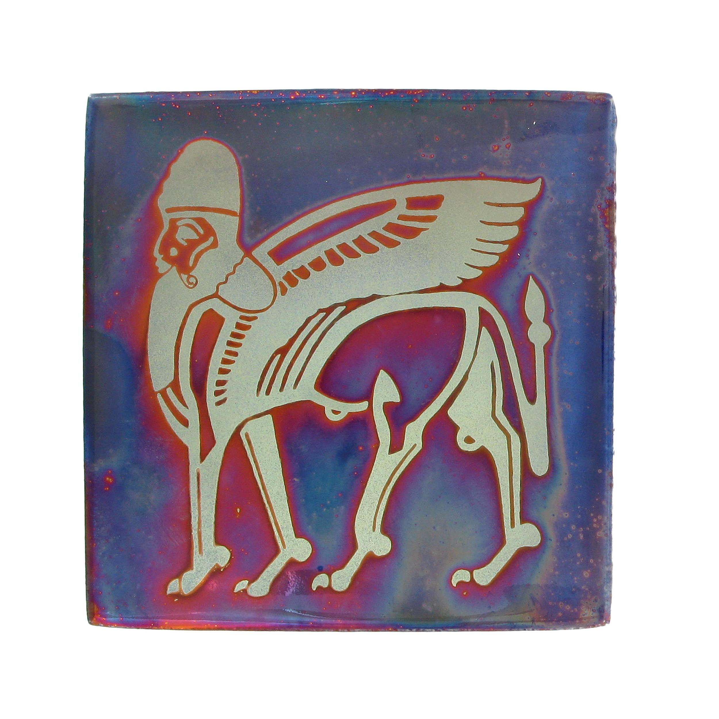 Winged bull tile