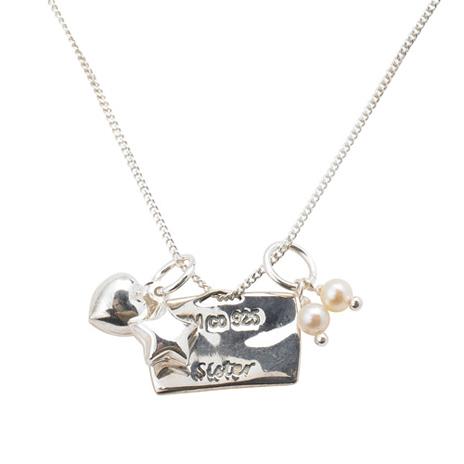 Hieroglyph love token pendant: Sister