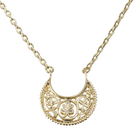 Byzantine single crescent necklace