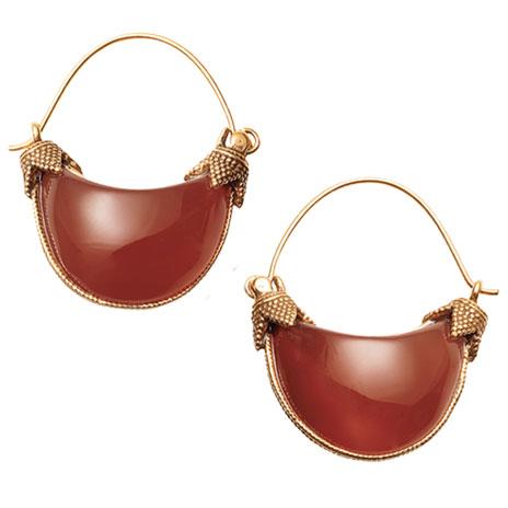 Cypriot Carnelian earrings