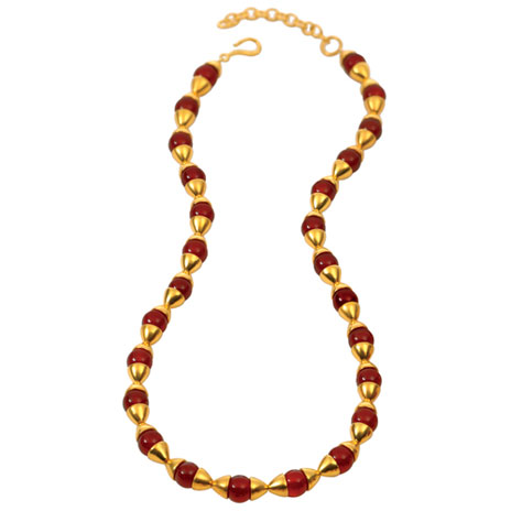 Egyptian Carnelian and Gold necklace