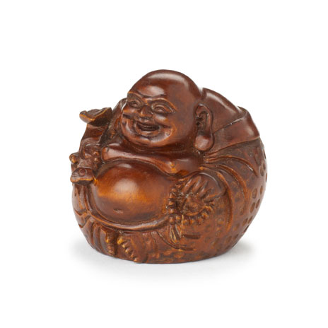 Happiness Buddha netsuke