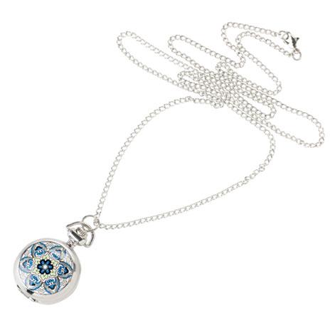 Iznik watch necklace