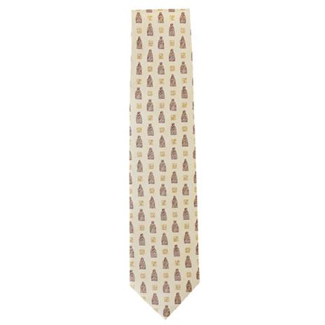 Lewis Chessmen silk tie