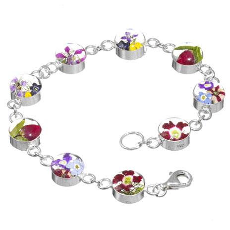 Hathaway floral chain bracelet