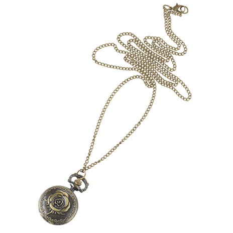 Rose Watch necklace