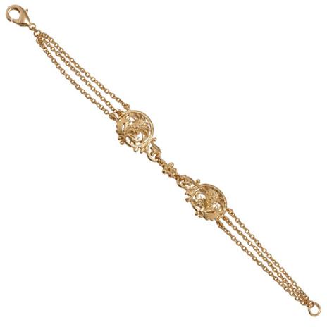 Victorian gold lace bracelet