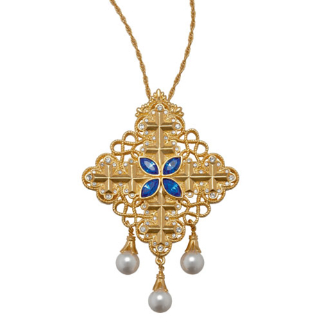 Victorian gold cross necklace
