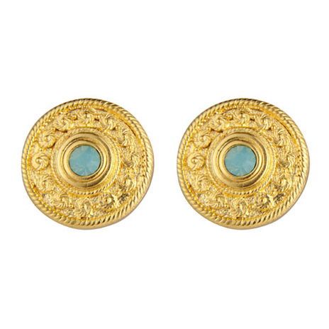 Victorian round earrings