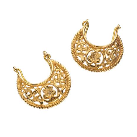 Byzantine crescent earrings
