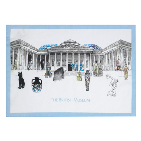 British Museum classic tea towel