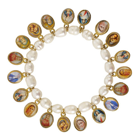 Pearl and Medallions bracelet