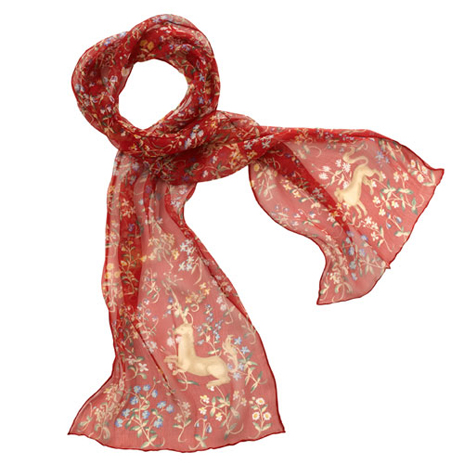 Lady and the Unicorn silk scarf