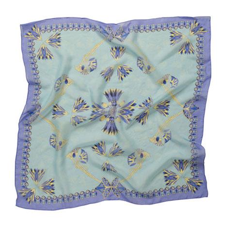 Lotus flower silk scarf