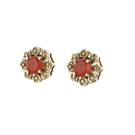 Greek carnelian stud earrings