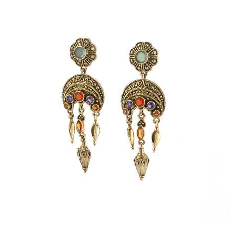 Greek labradorite drop earrings