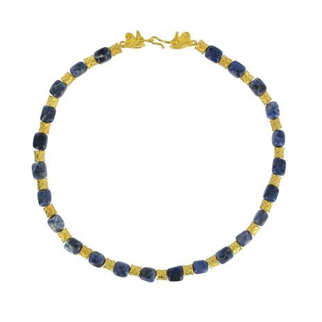 Sodalite beads & lapis necklace